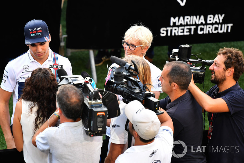 Lance Stroll, Williams, gibt Interviews
