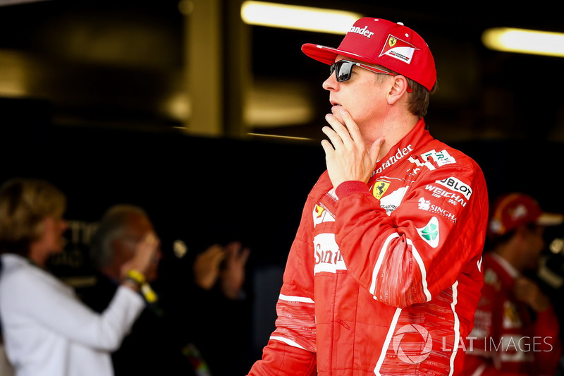 Kimi Raikkonen, Ferrari celebra en parc ferme