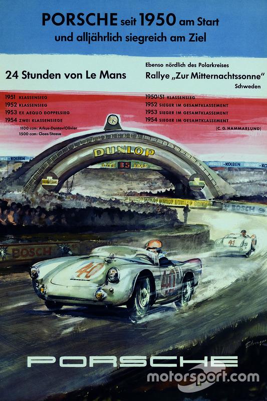 Poster Porsche 24h de Le Mans 1954