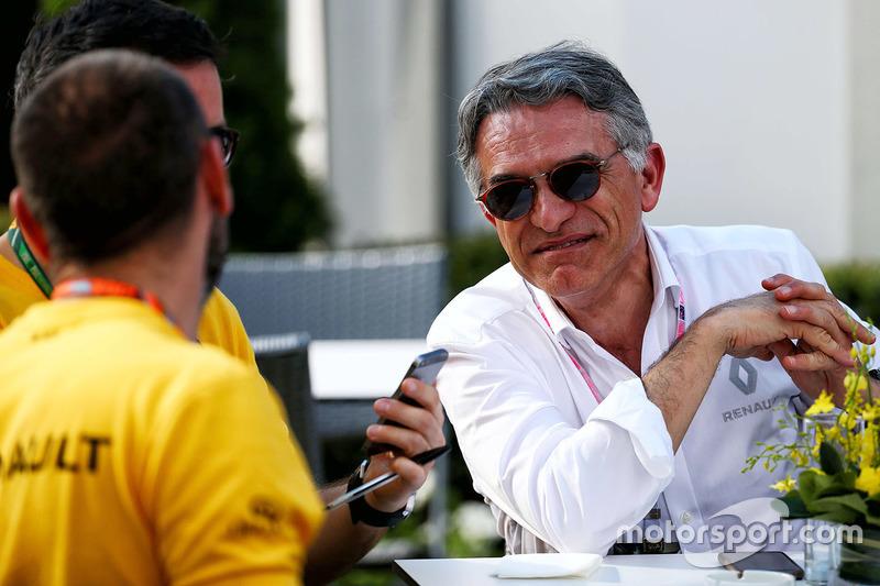 Patrice Ratti, Renault-Manager; Cyril Abiteboul, Renault-F1-Direktor