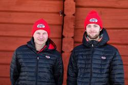 Kevin Eriksson and Finn Niclas Gronholm, World Rallycross team Olsbergs MSE