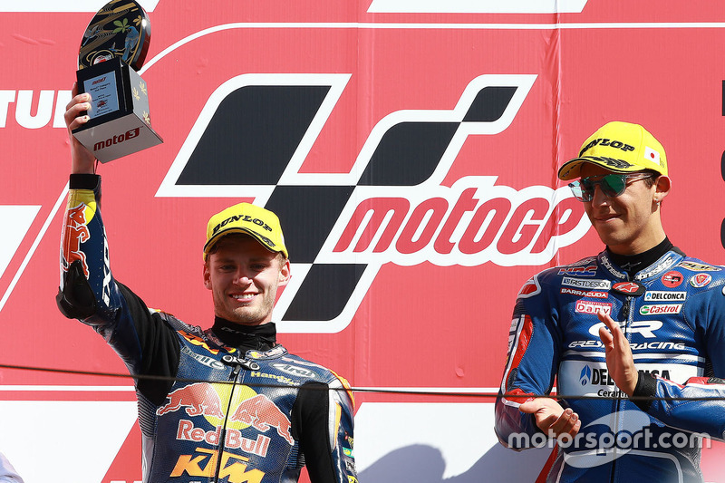 Podium: 2. Brad Binder, Red Bull KTM Ajo