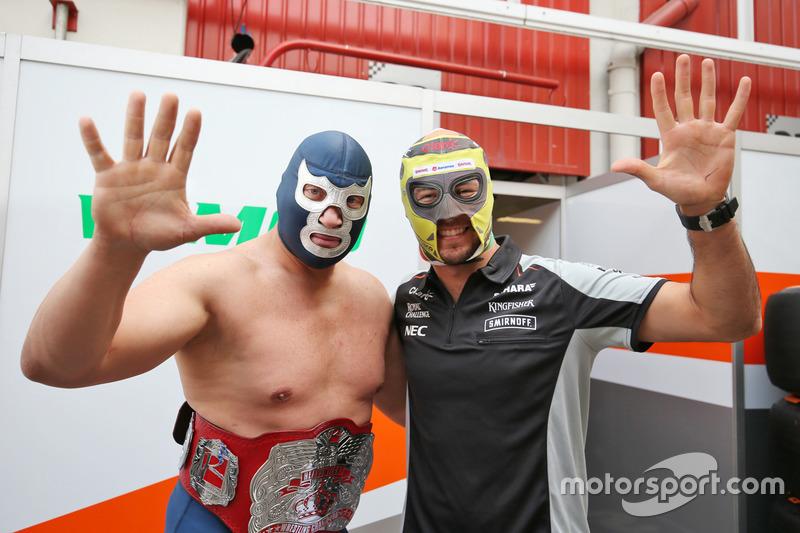 Blue Demon Jr., Luchador con Sergio Perez, Sahara Force India F1