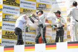 Podium: #29 Montaplast by Land-Motorsport, Audi R8 LMS: Connor De Phillippi, Christopher Mies