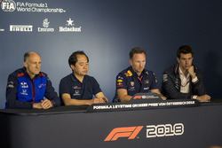 Franz Tost, Scuderia Toro Rosso Team Principal, Toyoharu Tanabe, Honda F1 Technical Director, Christian Horner, Red Bull Racing Team Principal and Toto Wolff, Mercedes AMG F1 Director of Motorsport