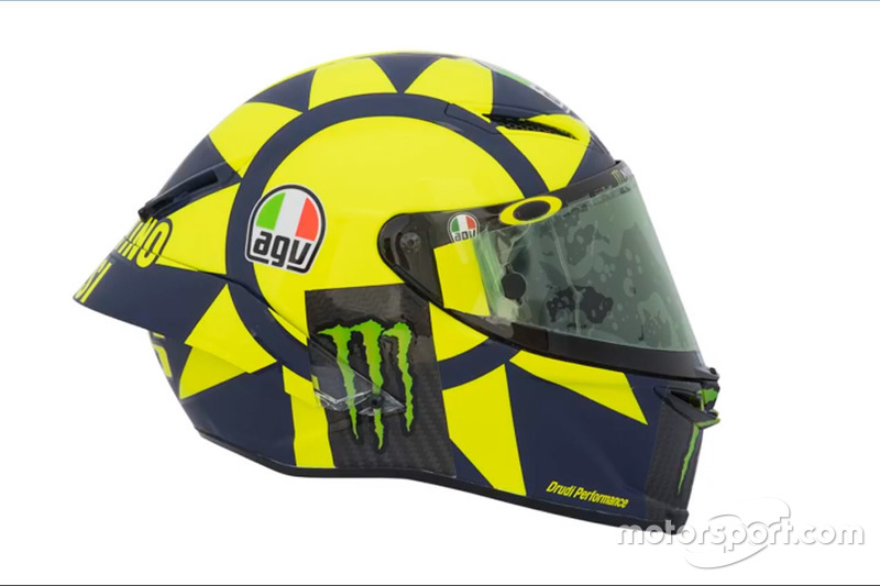 foto pamer helm baru valentino rossi terinspirasi formula 1. Black Bedroom Furniture Sets. Home Design Ideas