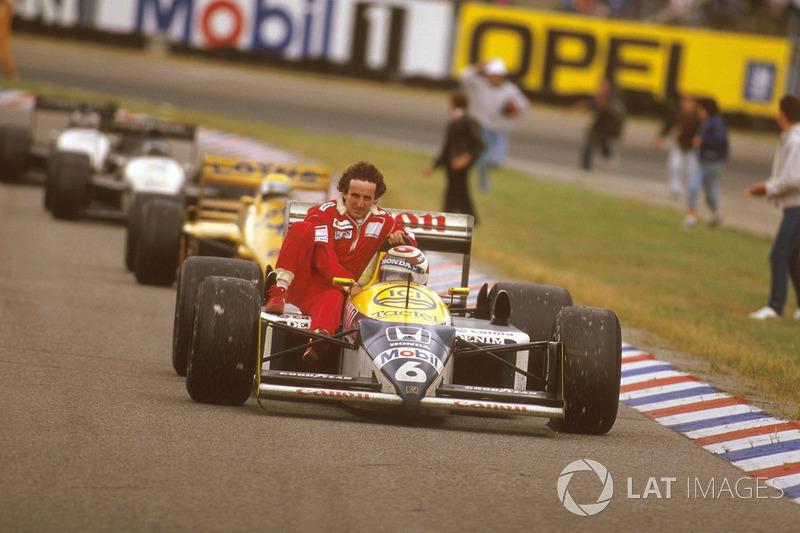 Píquet recoge e Prost en el GP de Alemania en 1987