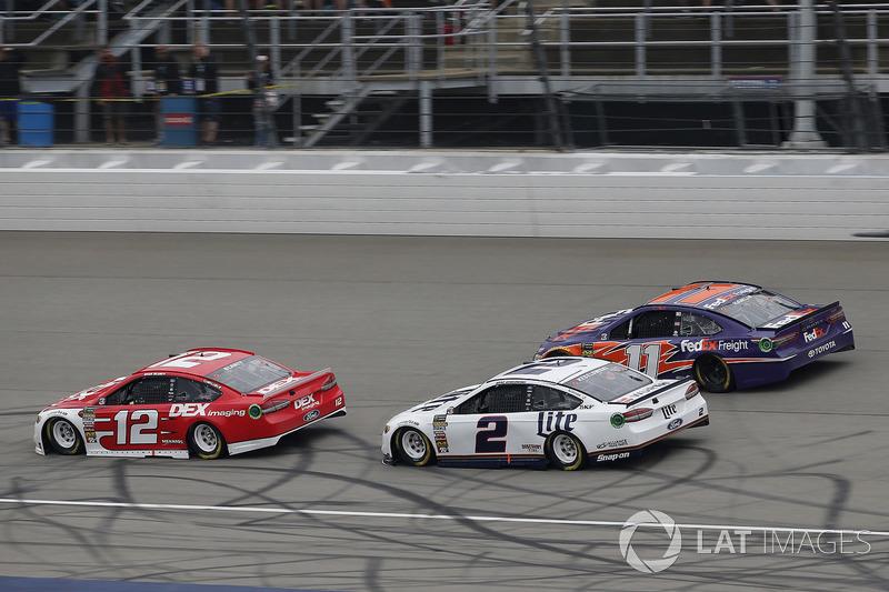 Ryan Blaney, Team Penske, Ford Fusion DEX Imaging Brad Keselowski, Team Penske, Ford Fusion Miller Lite