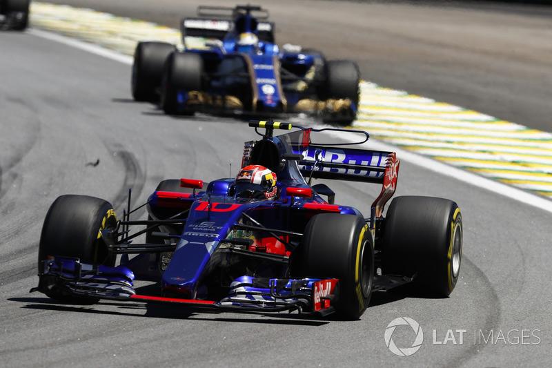Pierre Gasly, Scuderia Toro Rosso STR12, Marcus Ericsson, Sauber C36