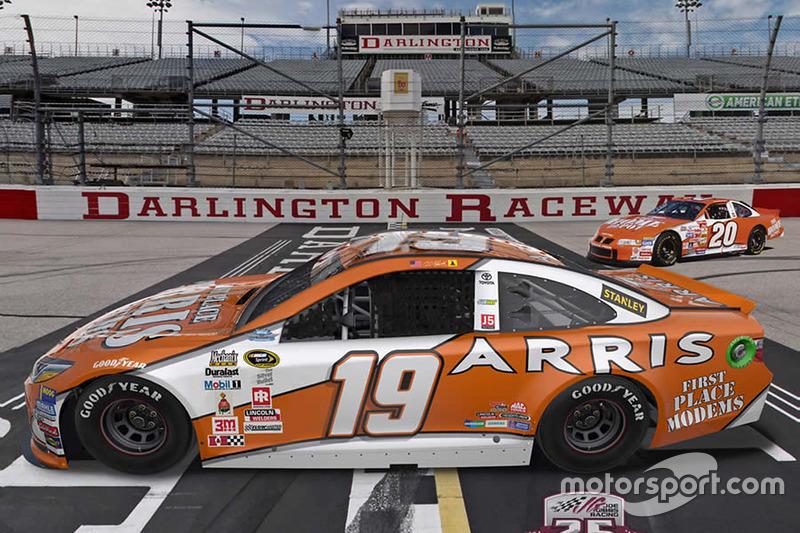 Throwback-Design von Carl Edwards, Joe Gibbs Racing, Toyota