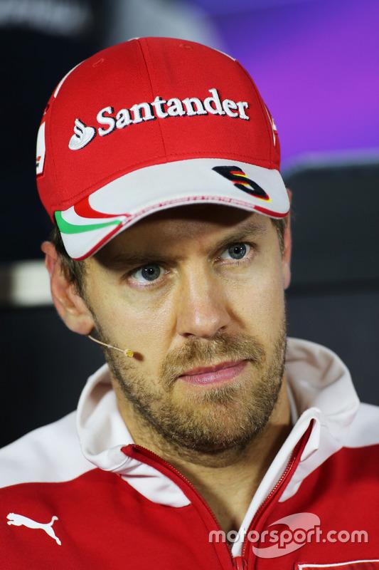 Себастьян Феттель, Ferrari, прес-коференція