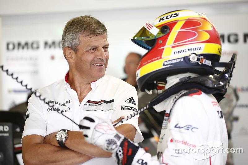 Porsche Team: Fritz Enzinger, Başkan Yardımcısı LMP1; #1 Porsche Team Porsche 919 Hybrid: Timo Bernhard