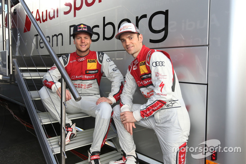 Adrien Tambay and Jamie Green, Audi Sport Team Rosberg