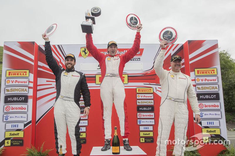 TPAM podium: winner Patrice Brisebois, second place Arthur Romanelli, third place Steve Johnson