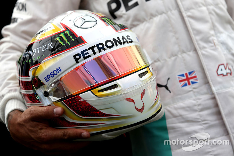 Helmet of Lewis Hamilton, Mercedes AMG F1 Team