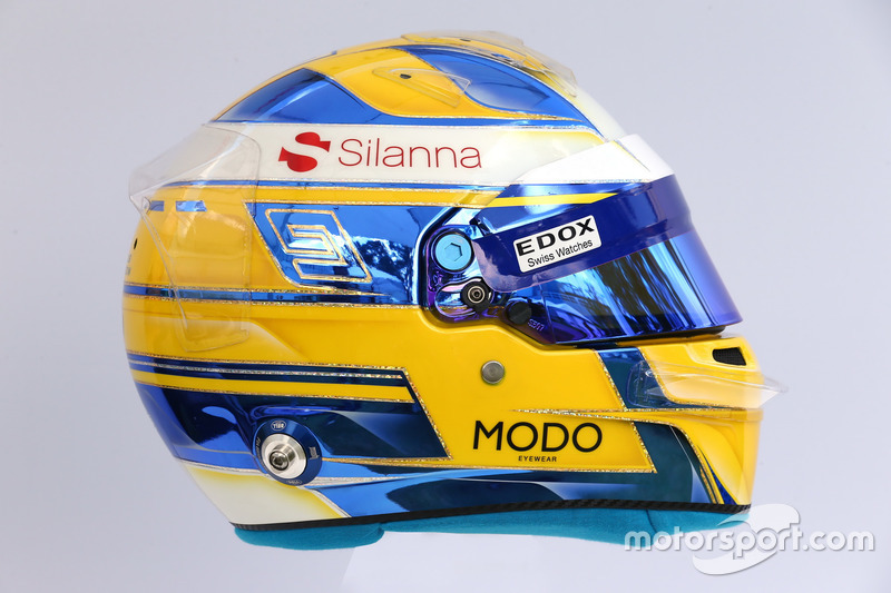 Casco de Marcus Ericsson, Sauber C36
