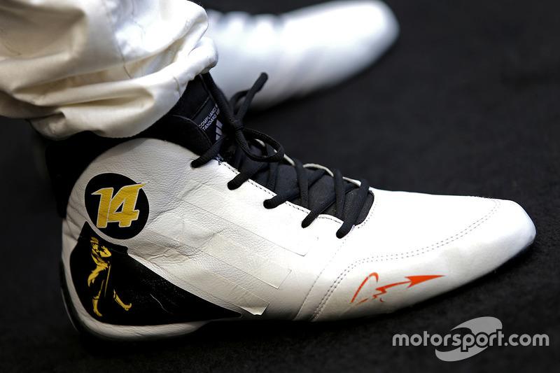 Schuhe von Fernando Alonso, McLaren