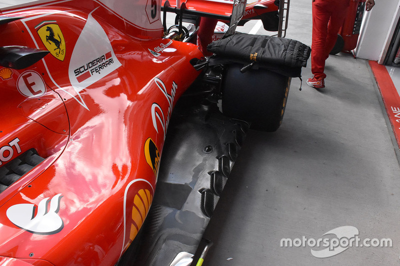Ferrari SF70-H floor detail