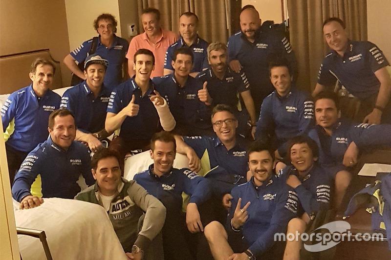 Alex Rins, Team Suzuki MotoGP con el equipo