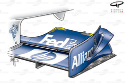 Williams FW24 2002 front wing flap development