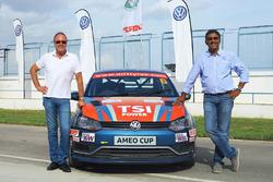 Bernhard Gobmeier, Volkswagen Group Motorsport director, Sirish Vissa, Head of Volkswagen Motorsport India