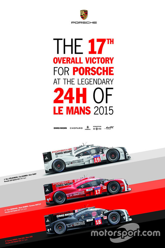 Poster Porsche 24h de Le Mans 2015