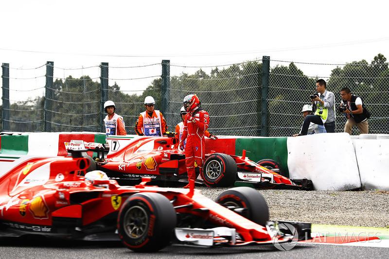 10: Kimi Raikkonen, Ferrari SF70H (incluidas 5 posiciones de sanción)