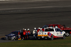 Jamie McMurray, Chip Ganassi Racing Chevrolet after the crash