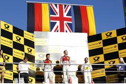 Podium: 1. Jamie Green, Audi Sport Team Rosberg, Audi RS 5 DTM, 2. Mike Rockenfeller, Audi Sport Team Phoenix, Audi RS 5 DTM, 3. Timo Glock, BMW Team RMG, BMW M4 DTM