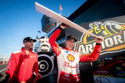 Pole sitters Scott McLaughlin, Team Penske Ford, Alexandre Prémat, Team Penske Ford