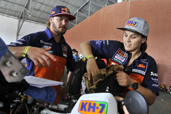 Laia Sanz con Toby Price, Red Bull KTM Factory Team