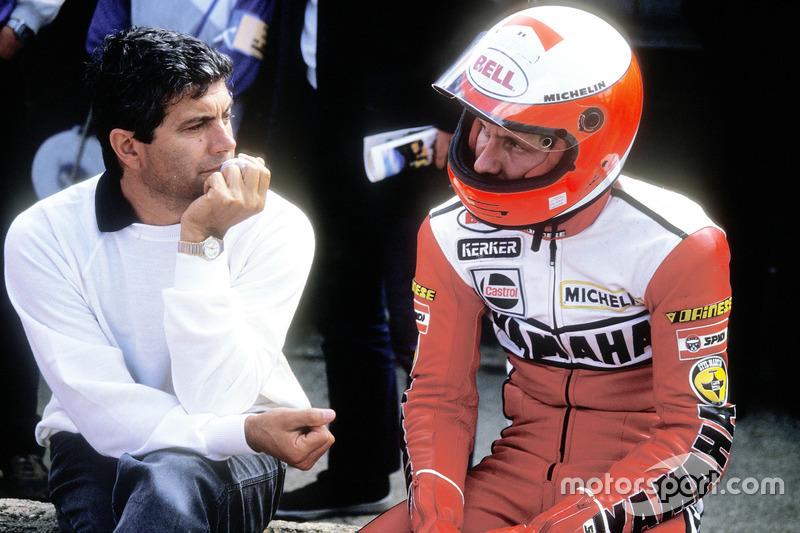 Giacomo Agostini et Eddie Lawson, Yamaha