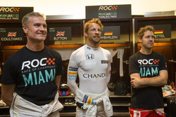 David Coulthard, Jenson Button and Sebastian Vettel