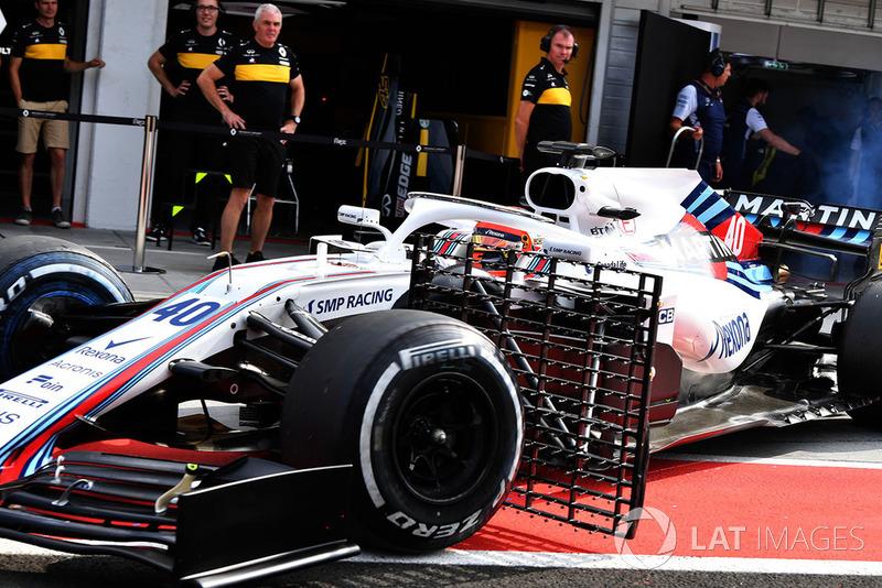 Robert Kubica, Williams FW41, con sensores aerodinámicos