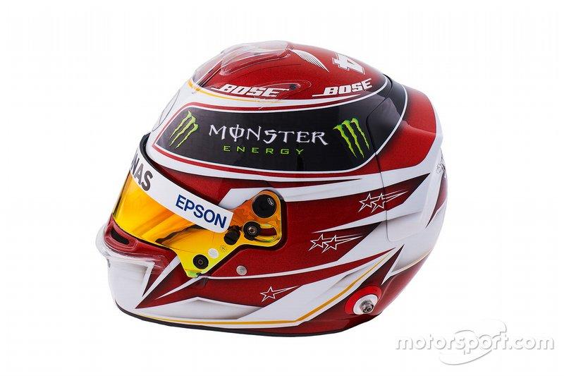 Casco de Lewis Hamilton, Mercedes, para 2019
