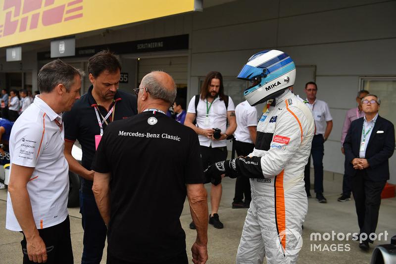 Mika Hakkinen en Leyendas F1 30 Aniversario vuelta de Demostración