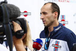 Robert Kubica, Williams Martini Racing, is interviewed