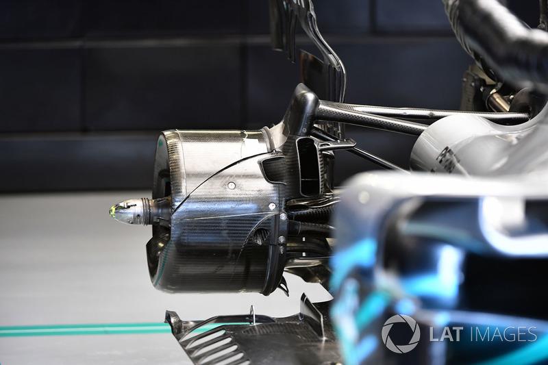 Eje trasero del Mercedes-AMG F1 W09