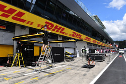 Renault Sport F1 Team pit box preparations