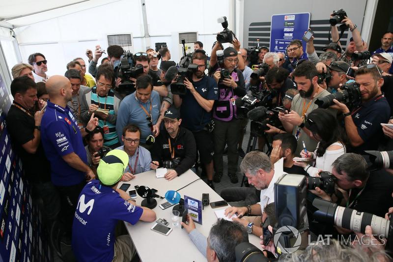 Valentino Rossi, Yamaha Factory Racing, conferencia de prensa