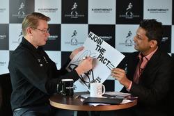 Mika Hakkinen with Kunal Shah