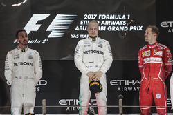 Podium: race winner Valtteri Bottas, Mercedes AMG F1, second place Lewis Hamilton, Mercedes AMG F1, third place Sebastian Vettel, Ferrari