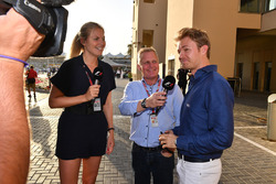 Rosanna Tennant, Johnny Herbert, Sky TV and Nico Rosberg, Mercedes-Benz Ambassador