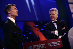 David Coulthard and Steve Rider on stage