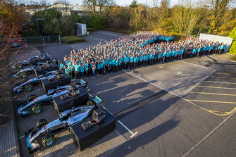 Mercedes AMG F1 2018 World Championship celebration