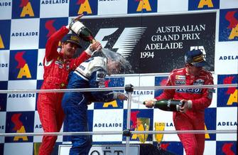 Podium: 1. Nigel Mansell, Williams; 2. Gerhard Berger, Ferrari; 3. Martin Brundle, McLaren