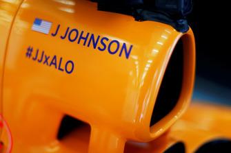Le nom de Jimmie Johnson sur la McLaren