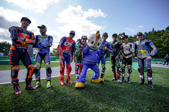Riders lineup during Mini-Moto race