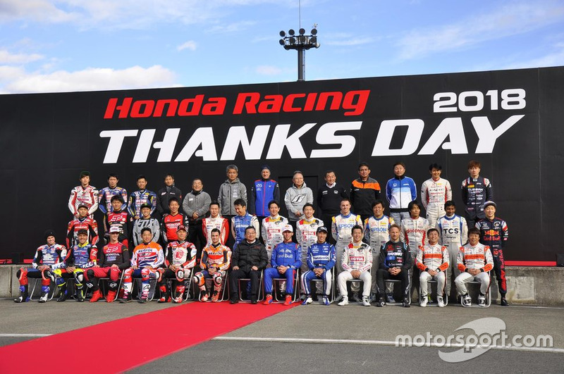 Seluruh peserta Honda Racing THANKS DAY 2018