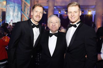 Sebastian Vettel, Ferrari, Jean Todt, FIA Pesident, Mick Schumacher